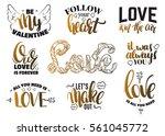 st. valentine's day set of... | Shutterstock .eps vector #561045772