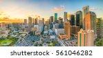 downtown houston skyline in... | Shutterstock . vector #561046282