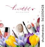 spring sale concept. cosmetics... | Shutterstock .eps vector #561050428