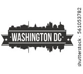 washington dc skyline stamp... | Shutterstock .eps vector #561053782