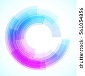 geometric frame  vector... | Shutterstock .eps vector #561054856