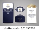 wedding invitation or greeting... | Shutterstock .eps vector #561056938