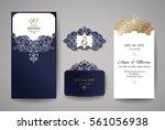 wedding invitation or greeting... | Shutterstock .eps vector #561056938