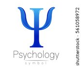modern logo of psychology. psi. ... | Shutterstock .eps vector #561058972