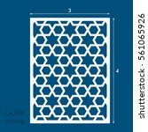 laser cut panel with... | Shutterstock .eps vector #561065926