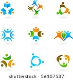 collection of abstract human... | Shutterstock .eps vector #56107537