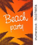 summer tropical poster with... | Shutterstock .eps vector #561078856