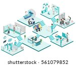 isometric flat interior of... | Shutterstock . vector #561079852