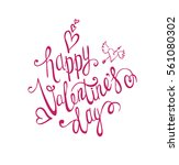 valentines day background. hand ... | Shutterstock .eps vector #561080302