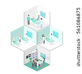 isometric flat interior of... | Shutterstock . vector #561086875