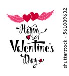 happy valentine's day.... | Shutterstock .eps vector #561089632