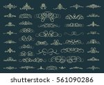 vintage decor elements and... | Shutterstock .eps vector #561090286