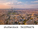city of paris. aerial image of... | Shutterstock . vector #561096676