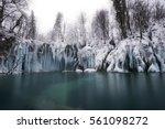 Frozen Waterfalls In Croatia