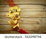 chinese new year decoration on... | Shutterstock . vector #561098746