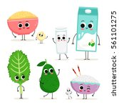 adorable collection of five... | Shutterstock .eps vector #561101275