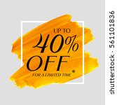 sale up to 40  off sign over... | Shutterstock .eps vector #561101836