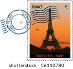 vector postmark with sight of...