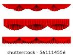 red silk pelmet and silk red... | Shutterstock .eps vector #561114556