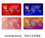 realistic detailed credit cards ... | Shutterstock .eps vector #561114586