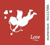 cute vector illustration  cupid ... | Shutterstock .eps vector #561117886