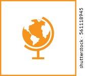 globe icon.  | Shutterstock .eps vector #561118945