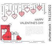 line horizontal banner for... | Shutterstock .eps vector #561123022