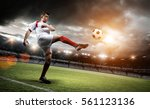 football player in the stadium | Shutterstock . vector #561123136