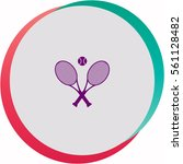 tennis  icon. vector design. | Shutterstock .eps vector #561128482