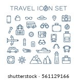 travel icon set. vector  | Shutterstock .eps vector #561129166