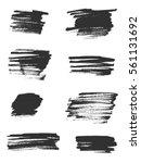 vector brush strokes | Shutterstock .eps vector #561131692