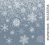 snowflakes on beautiful... | Shutterstock .eps vector #561132316