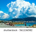 nice  france   circa august... | Shutterstock . vector #561136582
