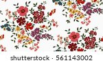 seamless floral pattern in... | Shutterstock .eps vector #561143002