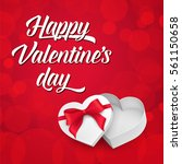 happy valentines day lettering... | Shutterstock .eps vector #561150658