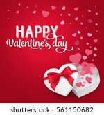 happy valentine day lettering... | Shutterstock .eps vector #561150682