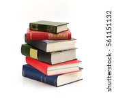 book stack on a white background | Shutterstock . vector #561151132