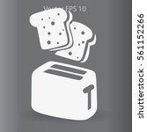flat toaster vector icon | Shutterstock .eps vector #561152266