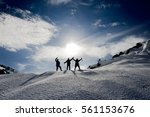 climbers are vigorous and... | Shutterstock . vector #561153676
