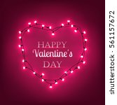 happy valentines day lettering...   Shutterstock .eps vector #561157672