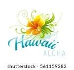 aloha hawaii vector... | Shutterstock .eps vector #561159382