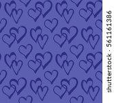 seamless pattern with hearts....   Shutterstock .eps vector #561161386