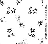 seamless pattern with stars.... | Shutterstock .eps vector #561161452