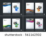 business vector set. brochure... | Shutterstock .eps vector #561162502