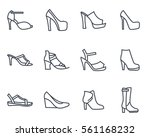 womens shoes line icon