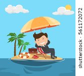 businessman relaxes on the...   Shutterstock .eps vector #561172072