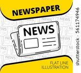 newspaper. thin line... | Shutterstock .eps vector #561174946