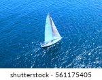 sailboat on ocean | Shutterstock . vector #561175405