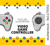 video game controller. colored... | Shutterstock .eps vector #561175552