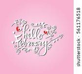 handmade vector calligraphy and ... | Shutterstock .eps vector #561176518